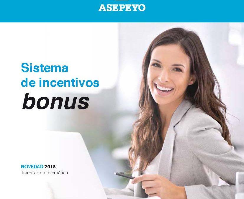 Sistema de incentivos bonus. Novedad 2018