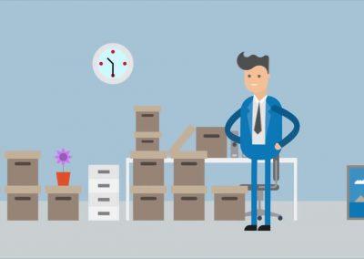El ascenso – Lumbalgias en la oficina