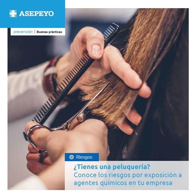 Folletos sobre el riesgo por exposición a agentes químicos en peluquerías