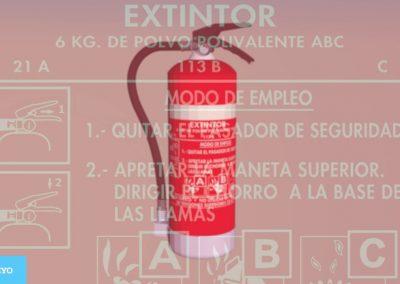 Prevención y extinción de incendios. Extintores
