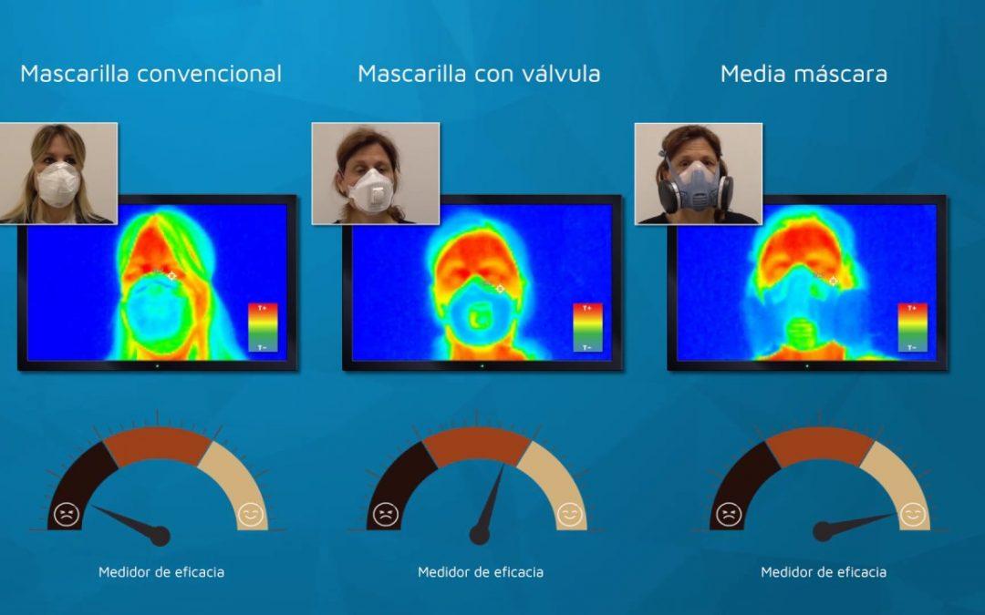 Análisis de la influencia de la eficiencia de válvulas de exhalación de mascarillas de protección respiratoria con termografía