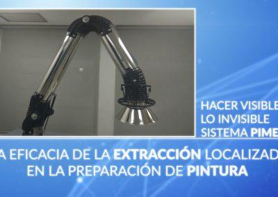 Sistema PIMEX. Eficacia de la extracción localizada de pinturas