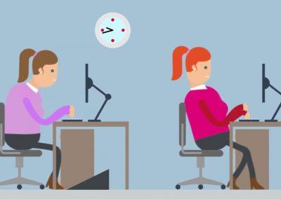 Sentados – Lumbalgias en la oficina